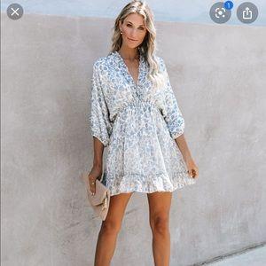 Vici Blue Ivy Ruffle Tiered Babydoll Dress